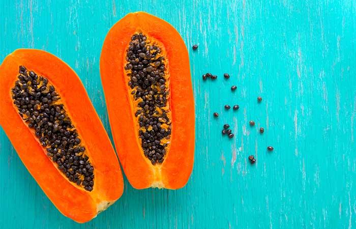 1. Papaya And Orange Face Pack