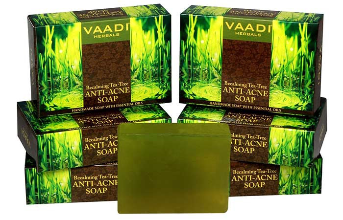 9. Vaadi Herbals Becalming Tea-Tree Anti-Acne Soap