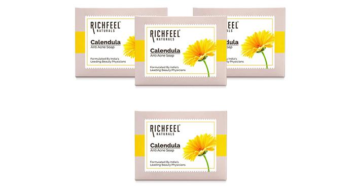 Richfeel Naturals Calendula Anti Acne Soap