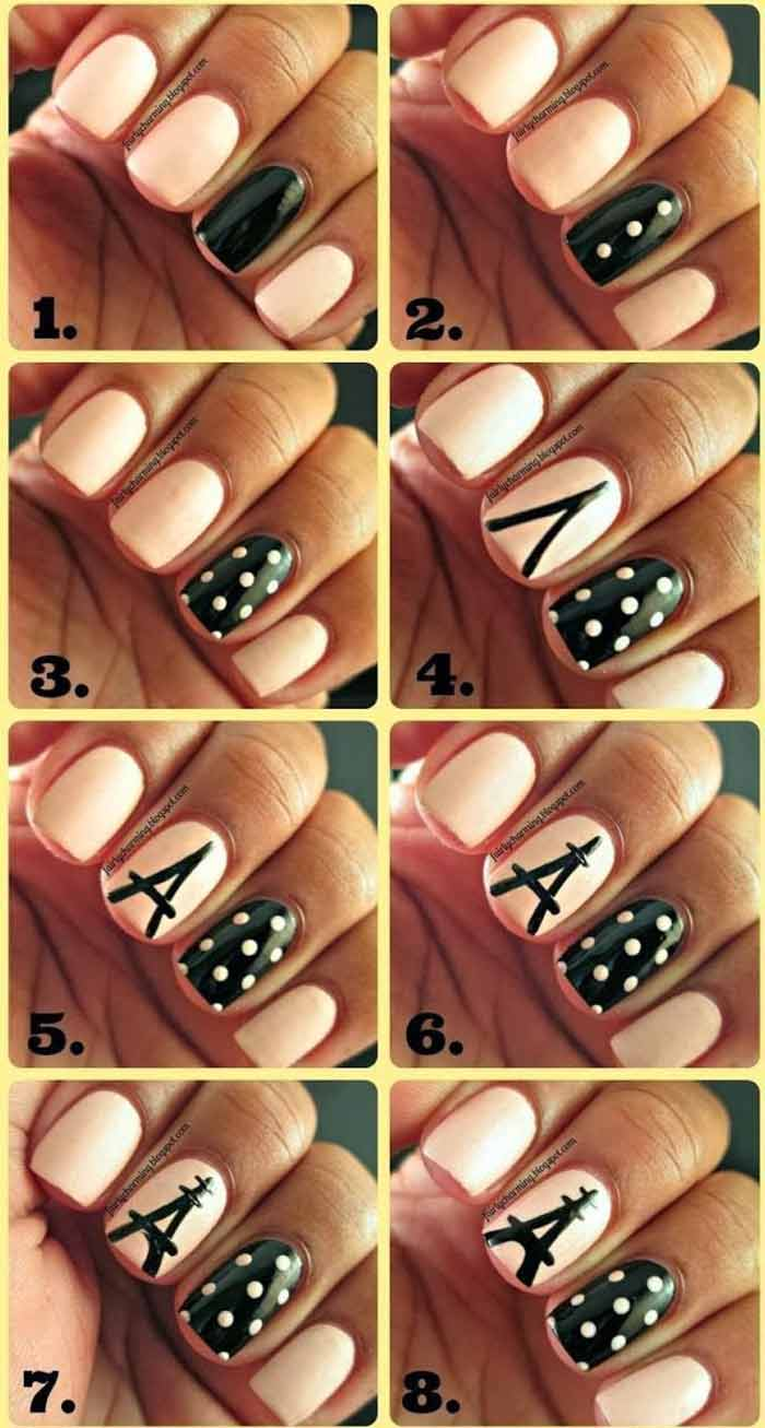 Parisian Nail Designs for Short Nails