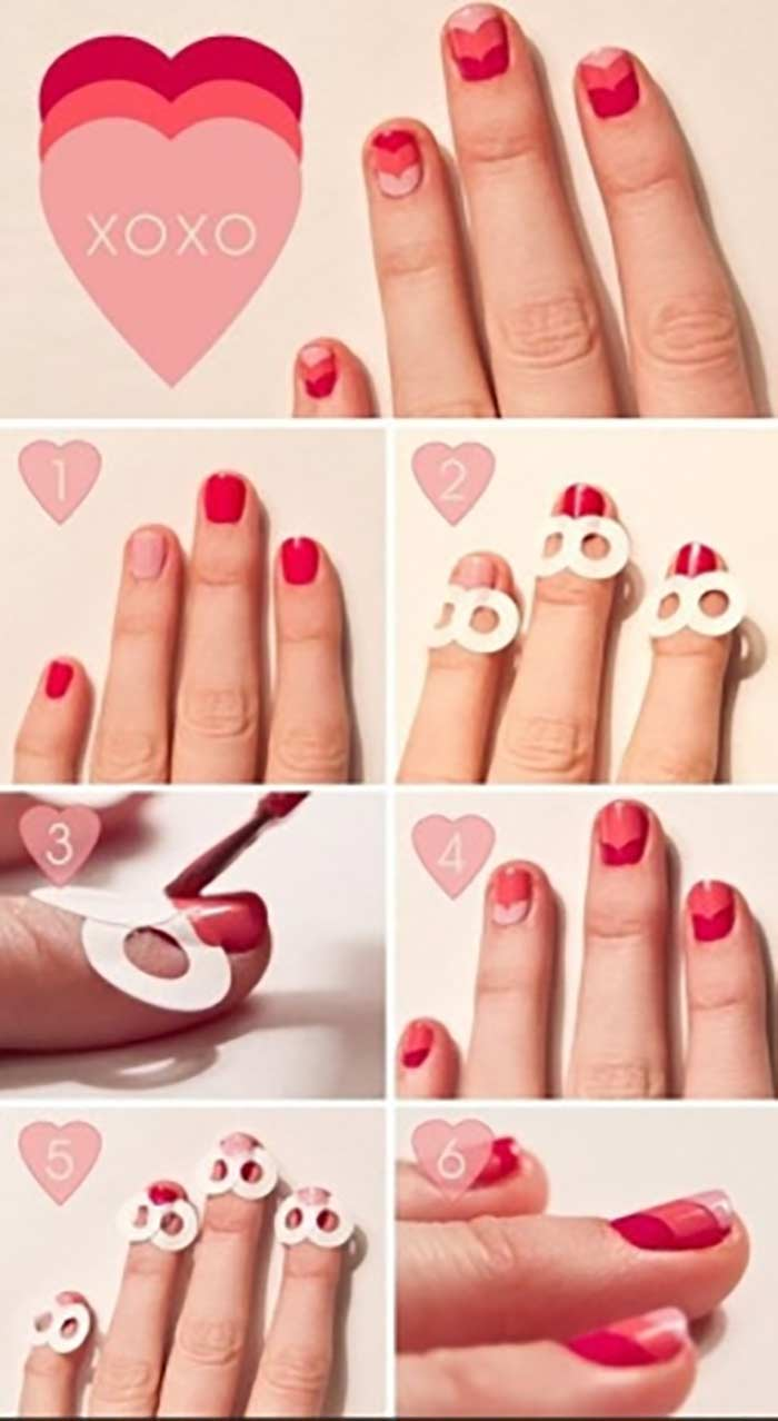 Top 60 easy nail art design tutorials for short nails 2017 heart inception nail art tutorial for short nails prinsesfo Image collections