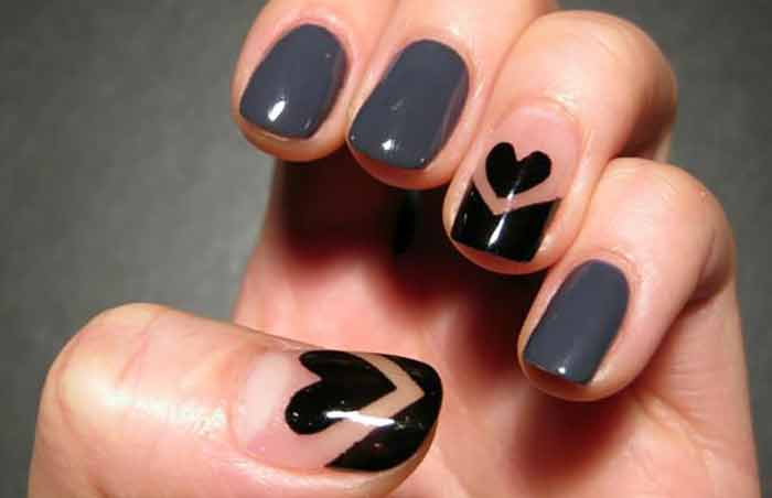 Blackheart   Cool Nail Designs For Short Nails Pinit