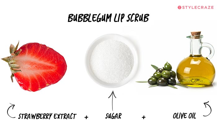 Homemade Lip Scrub - Bubblegum Lip Scrub