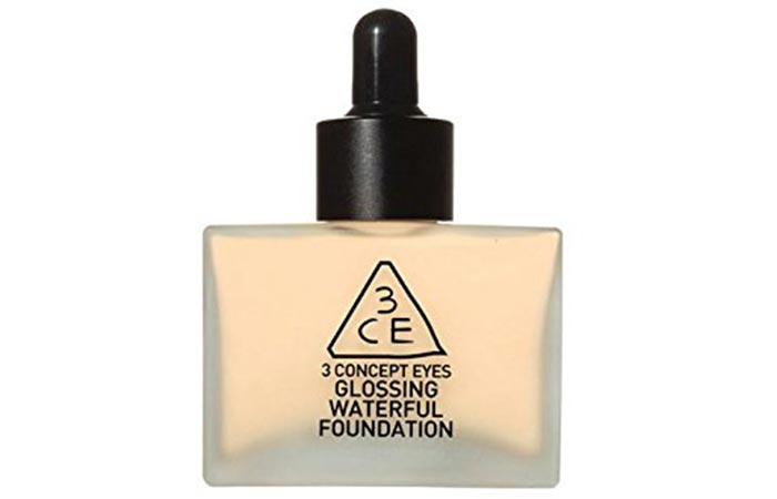 Best Foundations For Asian Skin - 9. 3 Concept Eyes Glossing Waterful Foundation