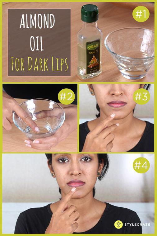 Almond-oil-for-dark-lips