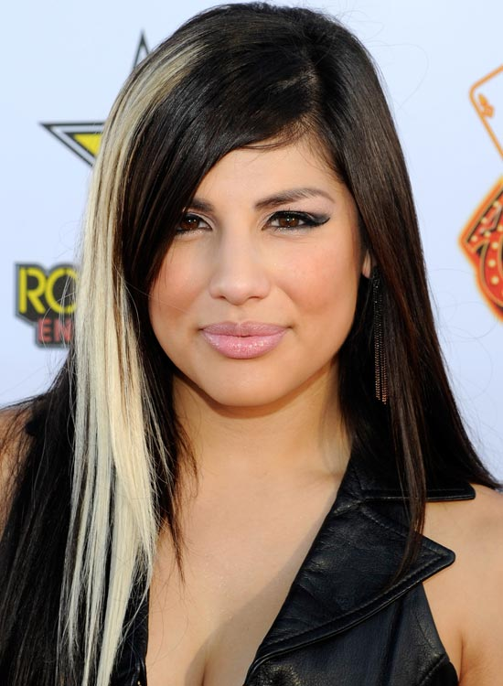 Black Hair with Streaks and Highlights