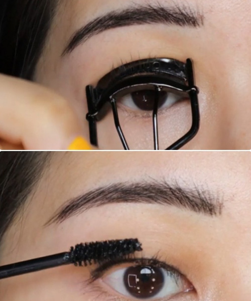 Curl Your Eyelashes And Apply Mascara