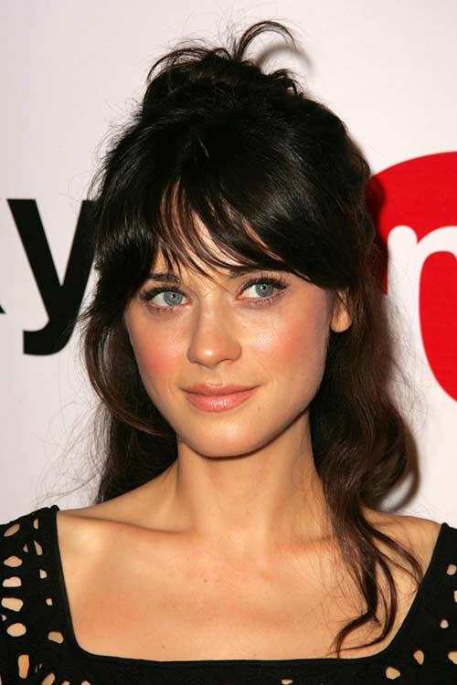 Curved-In Center Bangs