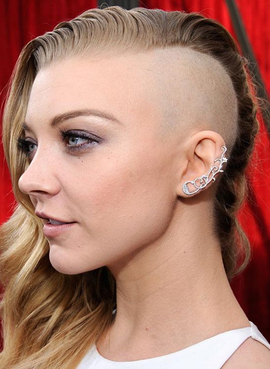 Half-Shaved Head with Wavy Locks