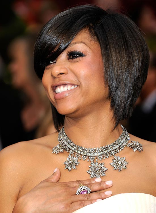 Layered Bob with Side-Swept Bang