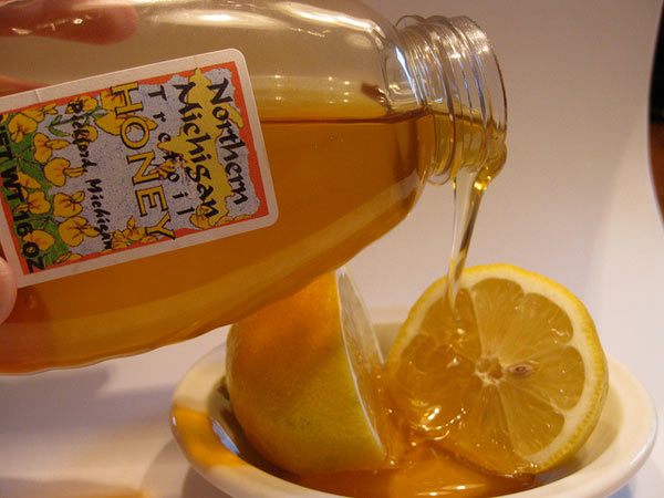Lemon honey lip serum