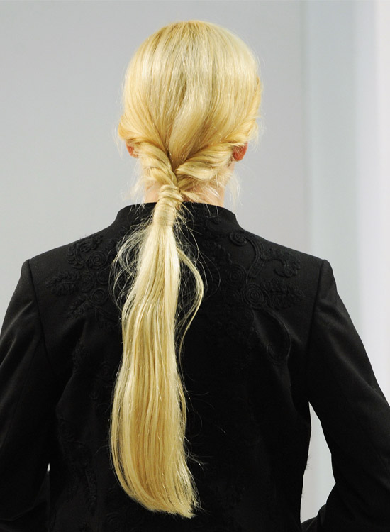 Low twisted Ponytail with Hair