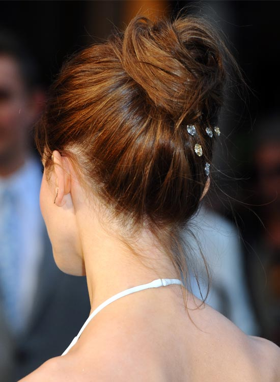 Messy High Bun with Accessory