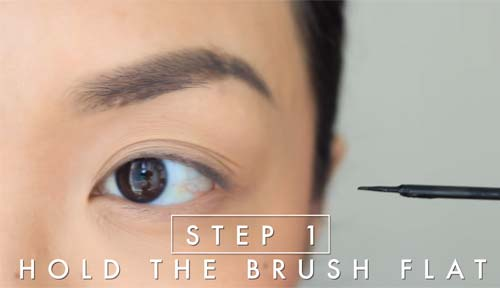 How To Apply Liquid Eyeliner - Step 1 Hold The Brush Flat