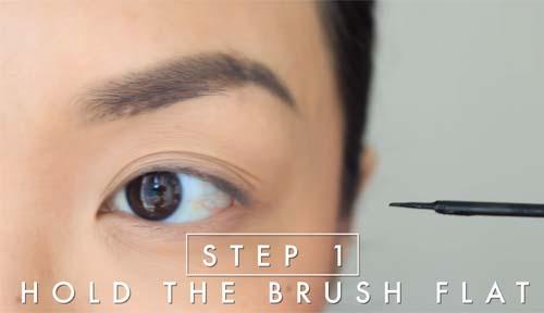 Step 1 Hold The Brush Flat