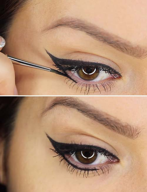 How To Apply Liquid Eyeliner - Step 2 Move Towards The Center