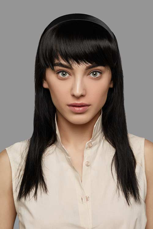 Uneven-Ended Bangs