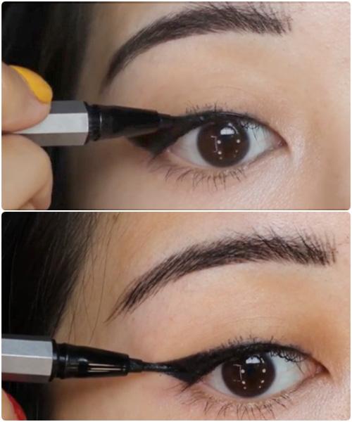 Use A Felt Tip Eyeliner For A Clean Line