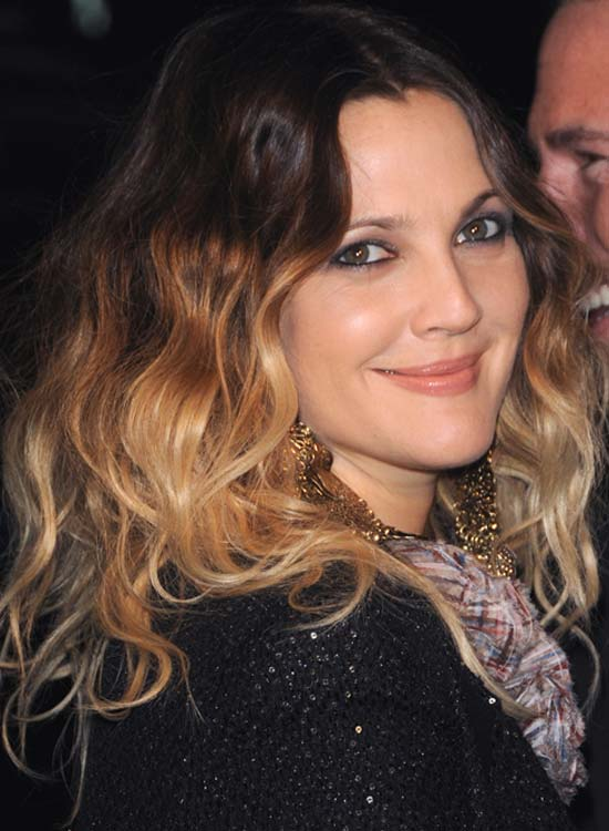 Wavy Ombre Hair with Center Part