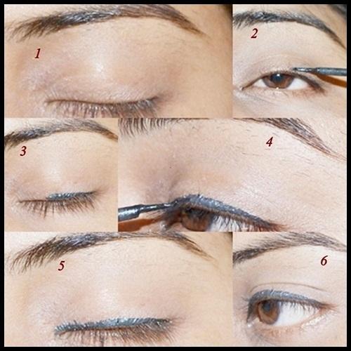 Liquid Eyeliner Application