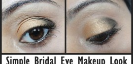 simple bridal eye makeup look