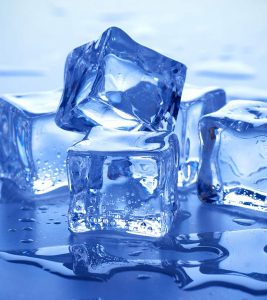 Beauty with Ice Cubes