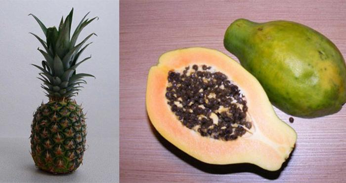 3. Papaya And Pineapple