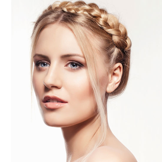 Hairstyles For Chubby Faces 12 the high bun 16 Milkmaid Braid