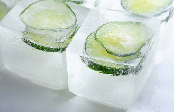 Cooling Cucumber Ice Cubes - Ice Cube On Face