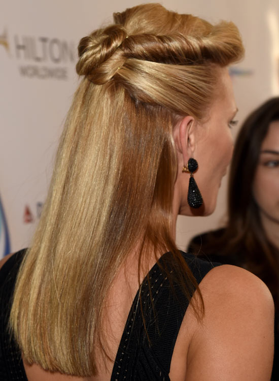 Half-Up-Hairdo-with-Rolled-and-Twisted-Upper-Bun