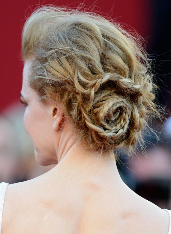 Messy-Braided-Rose-Bun-with-Small-Pouf