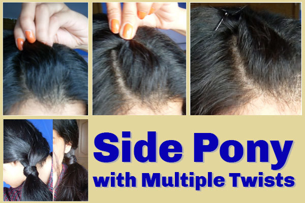 Side Pony With Multiple Twists Detailed Step By Step Tutorial With