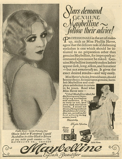 Stars Demanded Genuine Maybelline Lipstick In 1920s