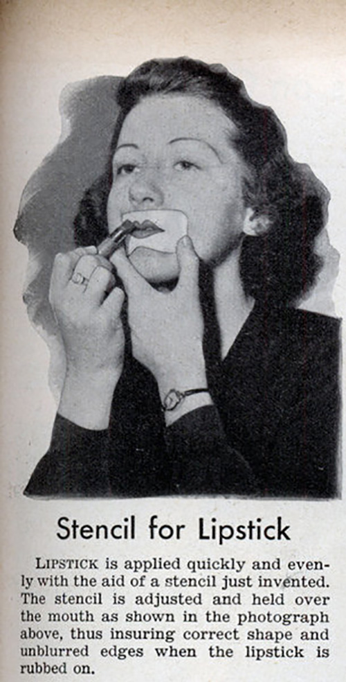 Lipstick Stencils Are Used In 1920s