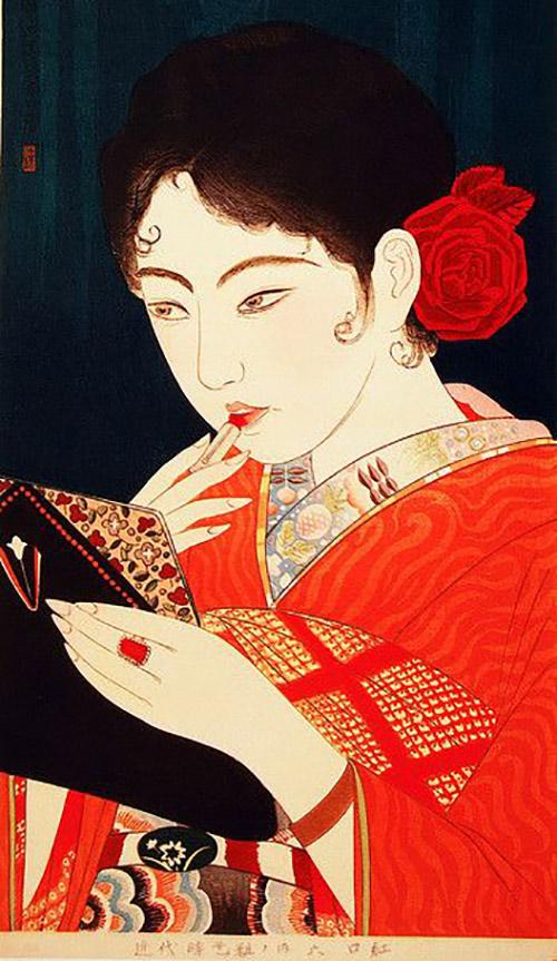 Women Wear Thick Lipstick