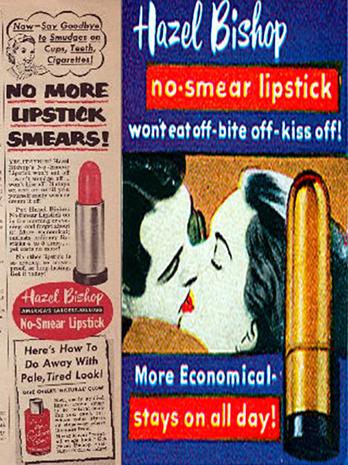 Hazel Bishop 'Kiss-Proof' Lipstick