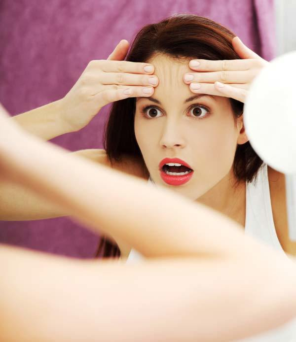 Avoid mirrors you're undergoing a skin treatment