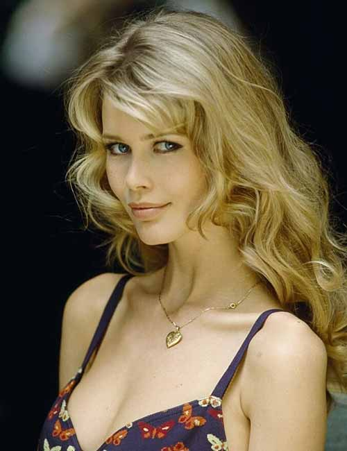 Hairstyles For Heart-shaped Face - Claudia Schiffer