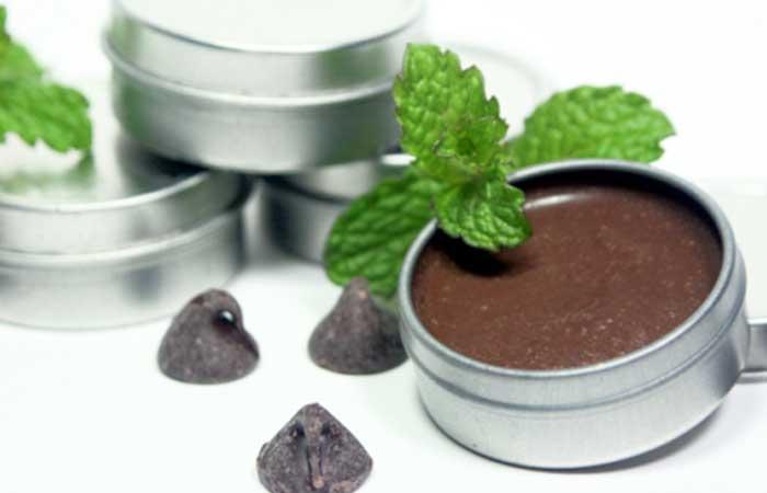Homemade Lip Balms - DIY Mint Chocolate Lip Balm