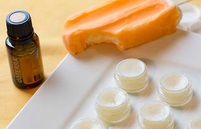 Homemade Lip Balms - DIY Vanilla Orange Lip Balm