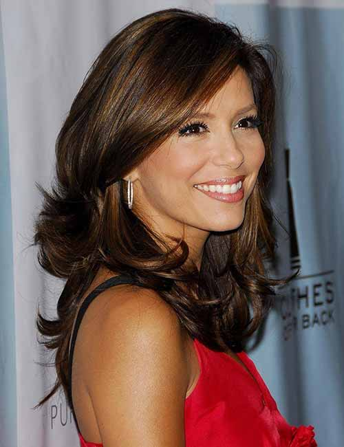 Hairstyles For Heart-shaped Face - Eva Longoria
