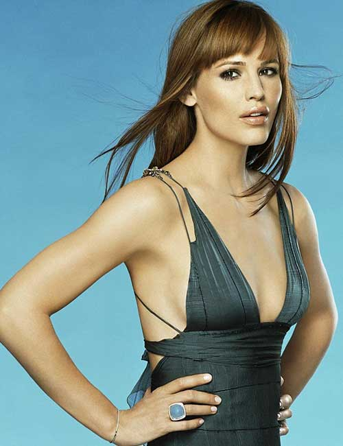 Hairstyles For Heart-shaped Face - Jennifer Garner
