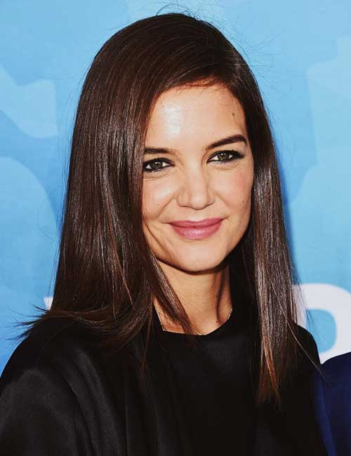 Hairstyles For Heart-shaped Face - Katie Holmes