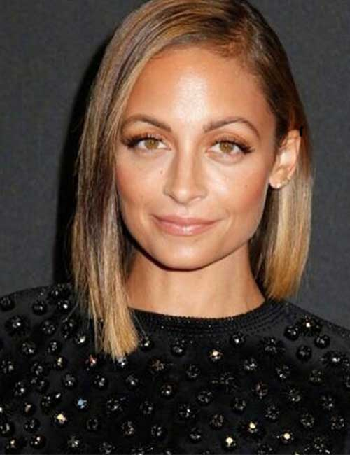 Hairstyles For Heart-shaped Face - Nicole Richie Madden
