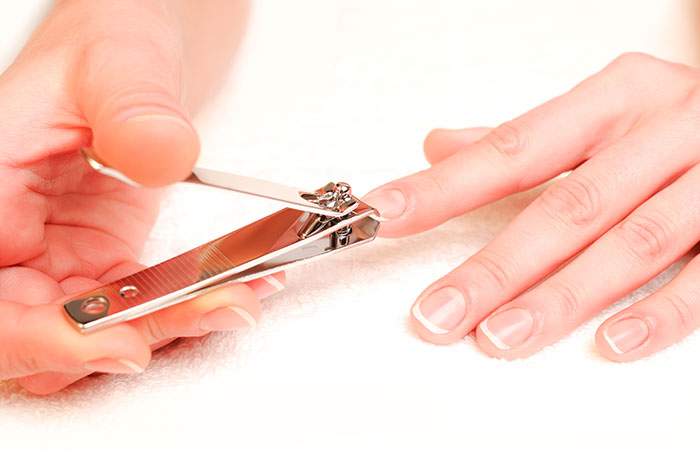 How To Apply Acrylic Nails? - Step 2: Trim Nails