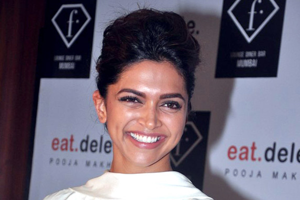 deepika padukone classic hair up do look