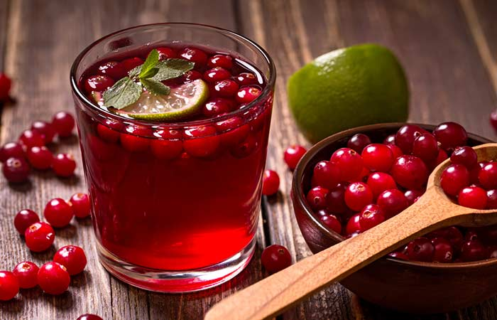 Skin Infection Treatments- Cranberry Juice