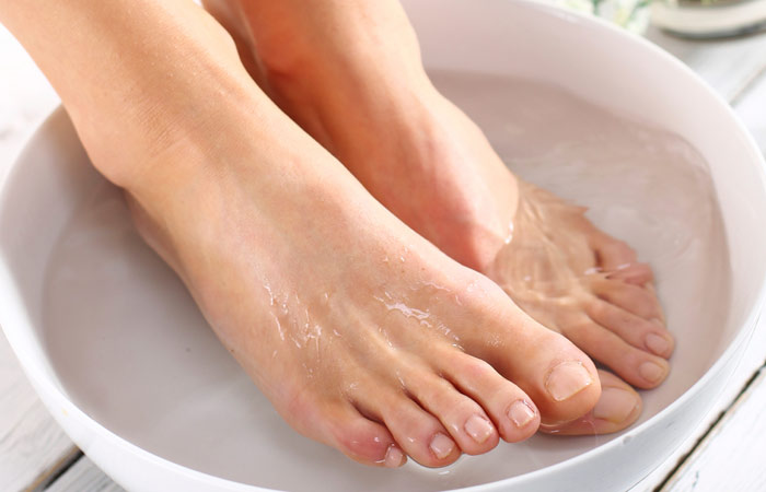 Soak Feet In Lukewarm Water