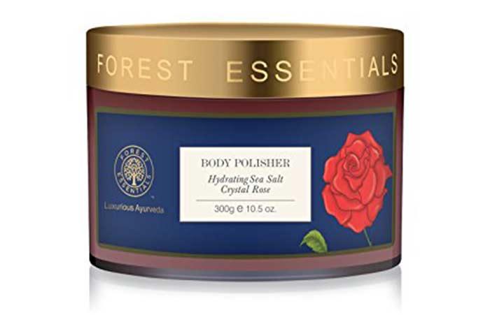 1. Forest Essential Body Polisher Hydrating Sea Salt Crystal Rose