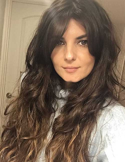 Best Long Hair With Bangs Looks - Long Hair With Side Bangs